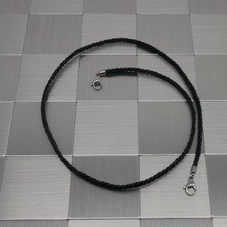 Maskenhalter schwarzes Leder