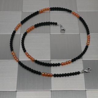 Maskenhalter schwarz-orange