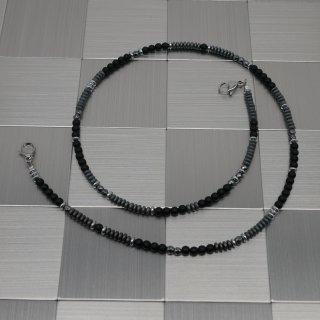 Maskenhalter silber-anthrazit-schwarz