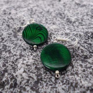 Ohrringe - Grüne Muschelschale