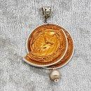 Caramelito mit hellbrauner Glaswachsperle
